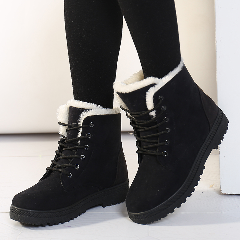 Women Boots Plus Size 2019 Snow Boot For Women Winter Shoes Heels Winter Boots Ankle Botas Mujer Warm Plush Insole Shoes Woman