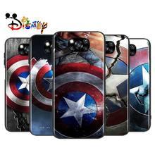 Avengers Shield Marvel สำหรับ Xiaomi Poco X3 NFC X2 M3 M2 F2 F3 Pro C3 F1 A2 Lite Mix3 Play ซิลิโคนนุ่มสีดำโทรศัพท์กรณี