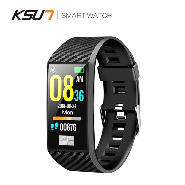 KSUN KSS701 스마트 시계 피트니스 팔찌 MiBand 밴드 3 빅 터치 스크린 OLED 메시지 심박수 시간 Smartband