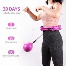 Esporte inteligente hoop destacável ajustável auto-spin cintura fina abdominal emagrecimento exercício muscular massagem hoop fitness corpo moldar