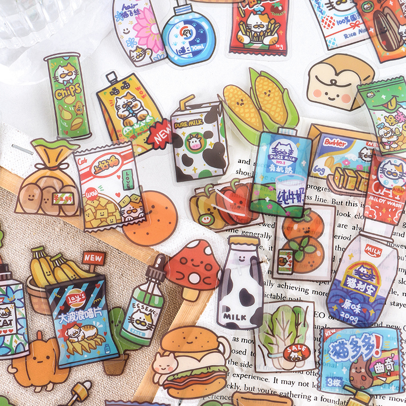 40 pcs/pack 24-hour convenience store series Decorative PVC Stickers Scrapbooking Stick Label Diary Stationery Album sticker