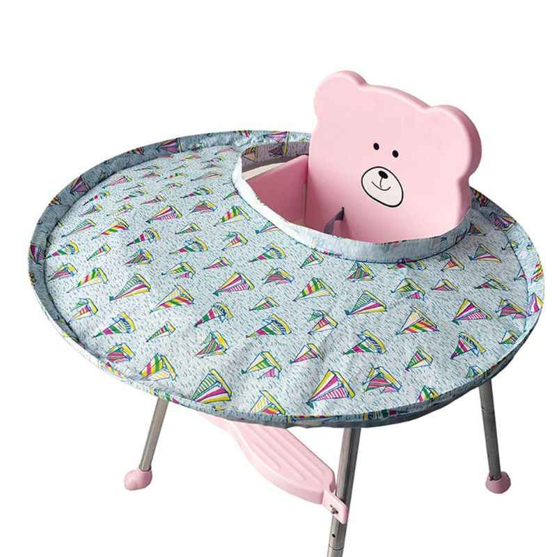 Baby Feeding Saucer High Chair Cover Prevents Food and Toys Falling to Floor Pad for Restaurant and Home