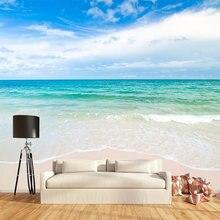 Пользовательские 3d росписи синий большой море пляж пейзаж фото