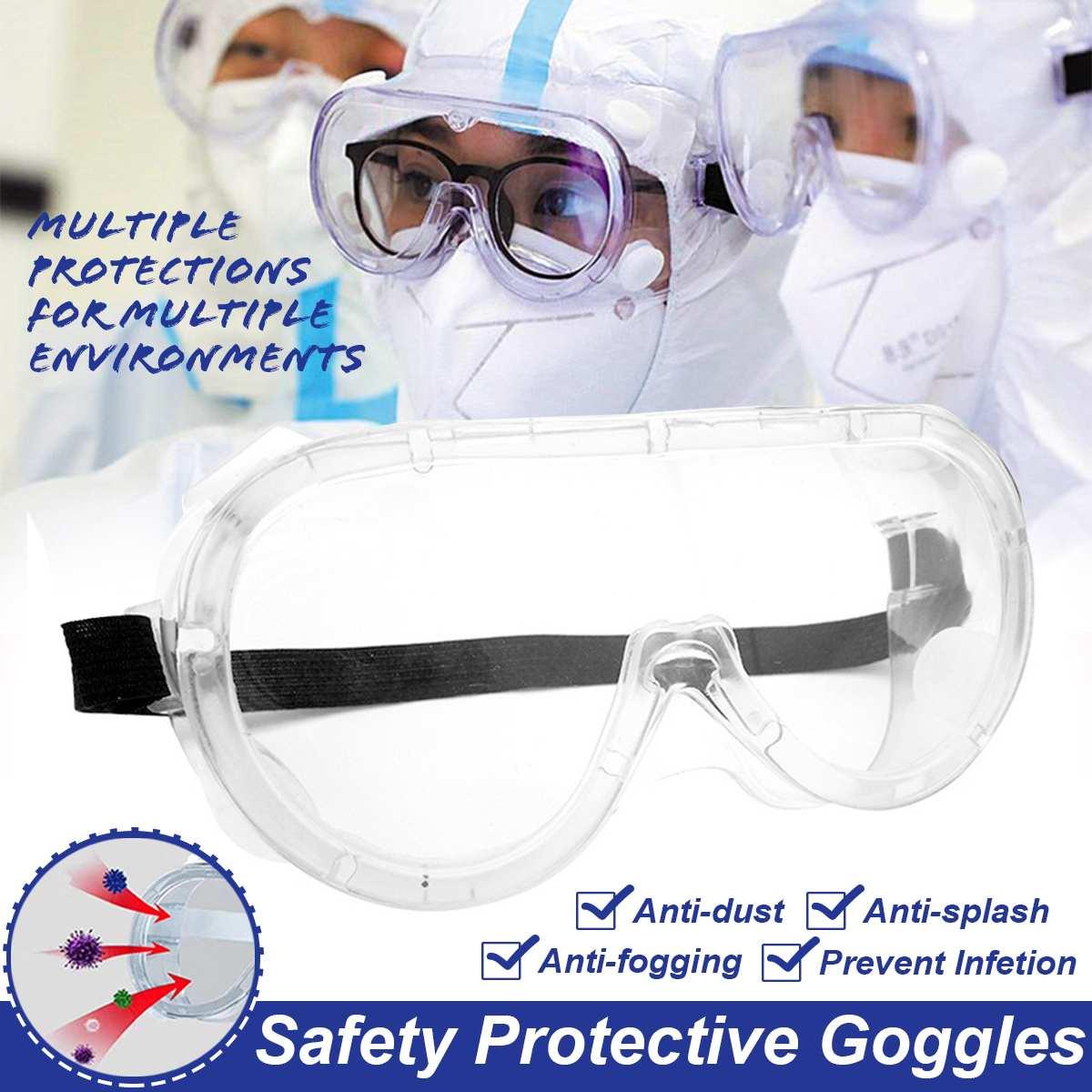 Medical Safety Protective Goggles Glasses Transparent Lens Goggles Prevent Infection Eye Mask Anti-Fog Splash Goggles