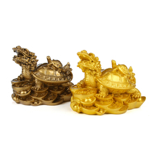 Traditional resin feng shui turtle leader mother and son sculpture coin home jewelry