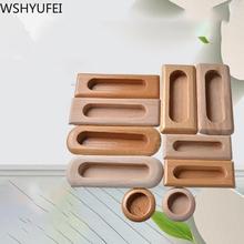 5 sztuk wbudowany uchwyt z litego drewna meble szuflada do szafki drzwi do szafki uchwyt do szafy naturalne meble drewniane akcesoria tanie tanio Maszyny do obróbki drewna CN (pochodzenie) handle Embedded Nowoczesne