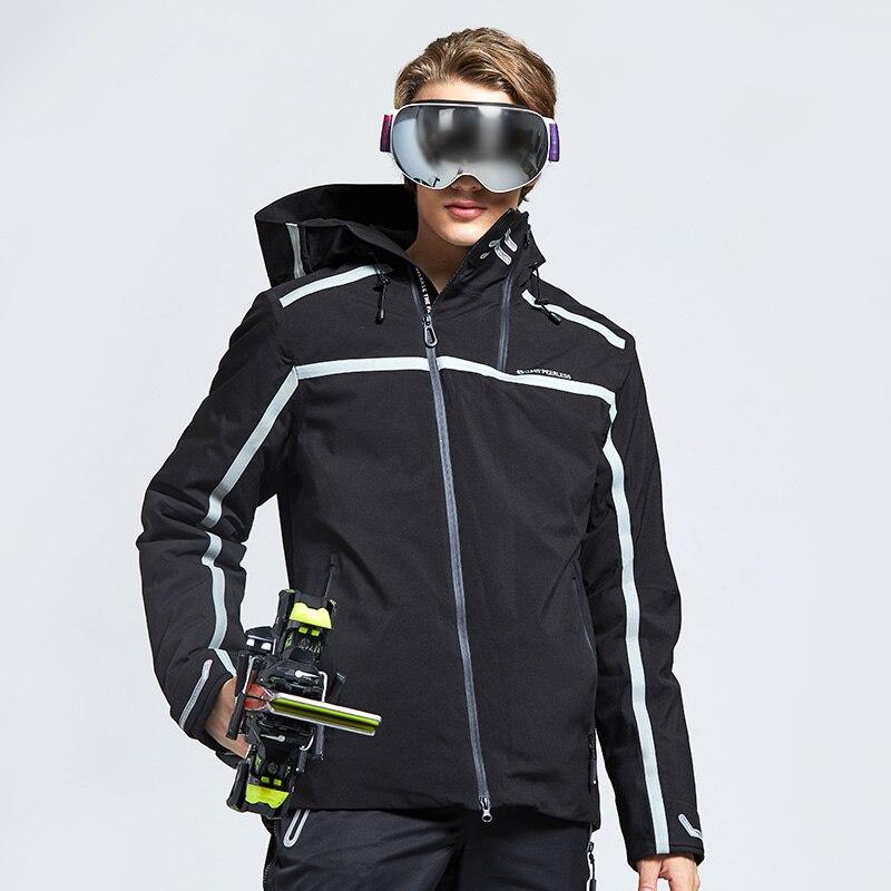2019 Ski Jacket Men Sports Outdoor Black Trend Water Proof Warm Coat Top Cotton Suit Korean Edition