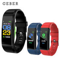 115 Plus Smart Armband Herz Rate Blutdruck Monitor Smart Uhr Männer Fitness Tracker Smartband Armband für IOS Android