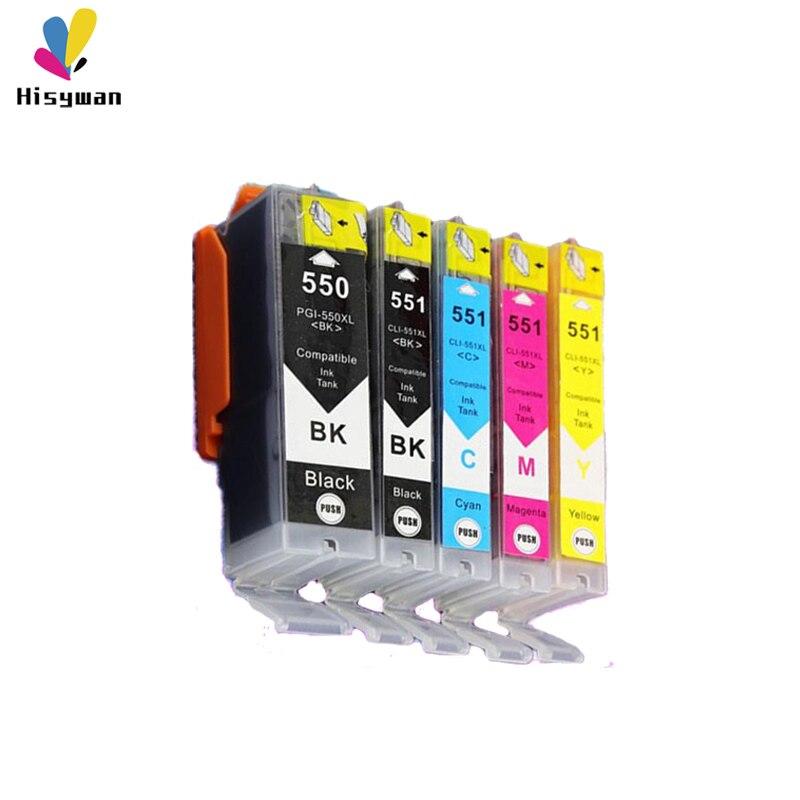 PGI550 CLI551 чернильный картридж для Canon PGI 550 IP7250 MG5450 MX925 MG5550 MG6450 MG5650 MG6650 IX6850 MX725 MX925 PGI-550 5 цветов