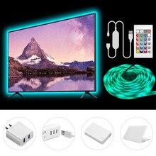 2M 3M 5M USB LED Streifen Licht 5050 LED Lampe Band Band RGB 10M TV Desktop bildschirm Hintergrundbeleuchtung Diode Band