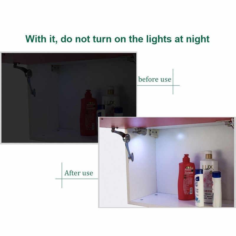 Goodland LED ضوء تحت الكابين العالمي مصباح خزانة الملابس الاستشعار Led Armario الداخلية المفصلي مصباح ل خزانة خزانة المطبخ @ 1