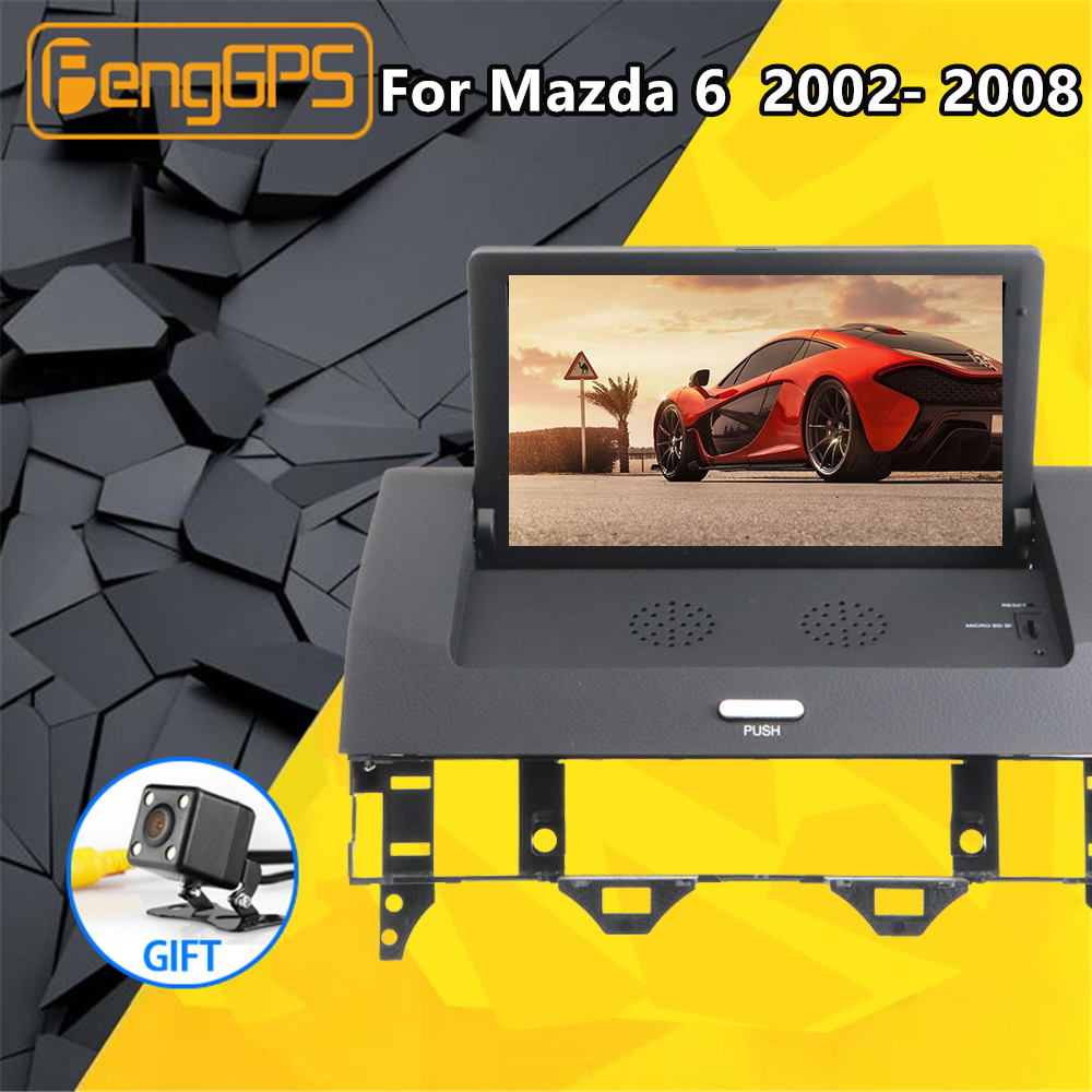 For <font><b>Mazda</b></font> <font><b>6</b></font> 2002- 2008 9 Inch Android 8.1 2+32GB Car Multimedia player Radio Audio DVD <font><b>GPS</b></font> <font><b>Navigation</b></font> autoradio Stereo Head unit image