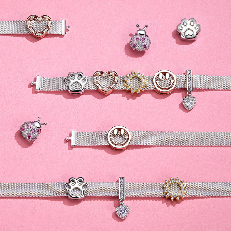 Bamoer 10 arten Authentic 925 Sterling Silber Charme für Reflexions Armbänder DIY Schmuck Zubehör Geschenke für Mädchen