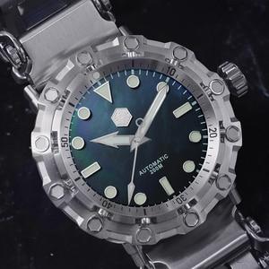 Image 3 - サンマーティン新 ufo モデリングタコオリジナルダイバーステンレス鋼メンズ機械式時計防水発光 relojes