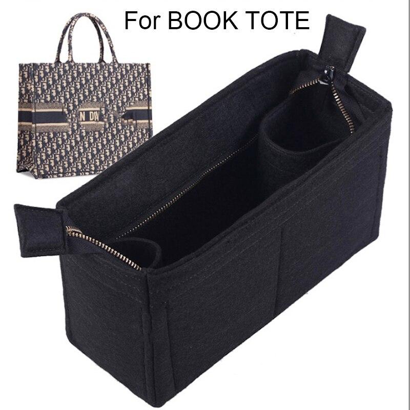 For BOOK TOTE 3MM For Felt Cloth Insert Speedy Bag Organizer Makeup Handbag Organizer Travel Inner Purse Baby Cosmetic Mommy Bag