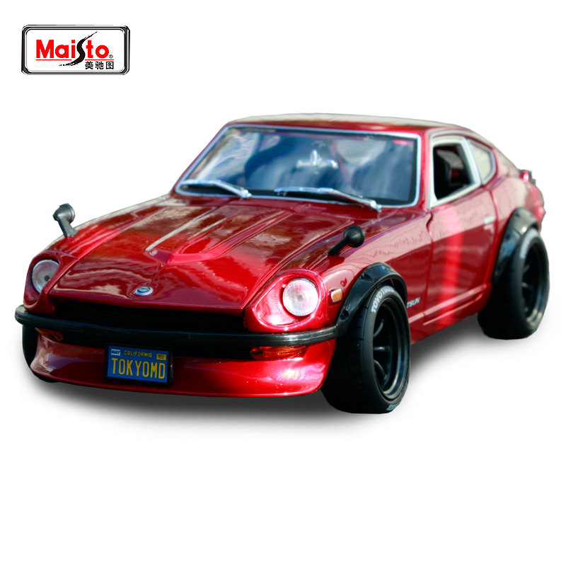 Maisto <font><b>1:18</b></font> 1971 <font><b>Nissan</b></font> datsun 240z <font><b>car</b></font> <font><b>diecast</b></font> for <font><b>nissan</b></font> red <font><b>car</b></font> <font><b>diecast</b></font> precious collecting <font><b>car</b></font> model toys for men 32611 image