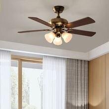 42 дюймовый Американский винтажный потолочный вентилятор с подсветкой