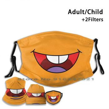 Club Penguin Orange Puffle. Cute Cartoon Mouth Washable Reusable Mouth Face Mask With Filters For Child Adult Club Penguin image
