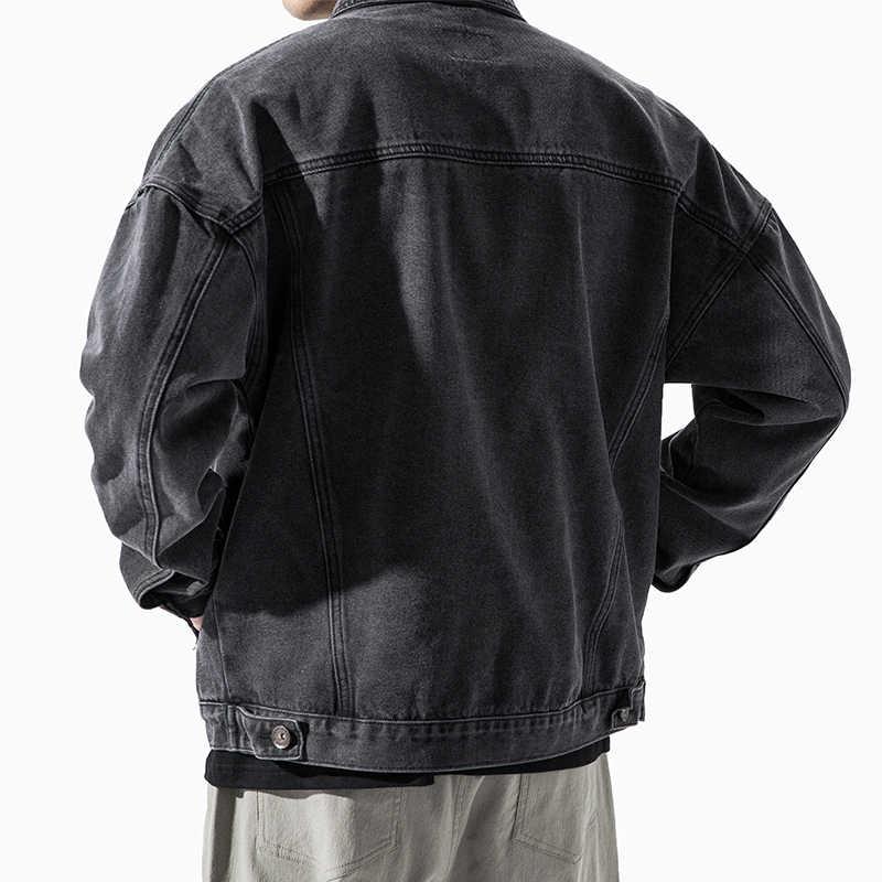 패션 하라주쿠 청바지 자켓 남성 streetwear 겉옷 한국 스타일 의류 남성 고품질 데님 자켓 폭격기 자켓