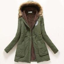 Womens Parka Casual Pregnant Woman Wear Autumn Winter Military Hooded Coat Jacket Women Plush Coats Maternity Clothing