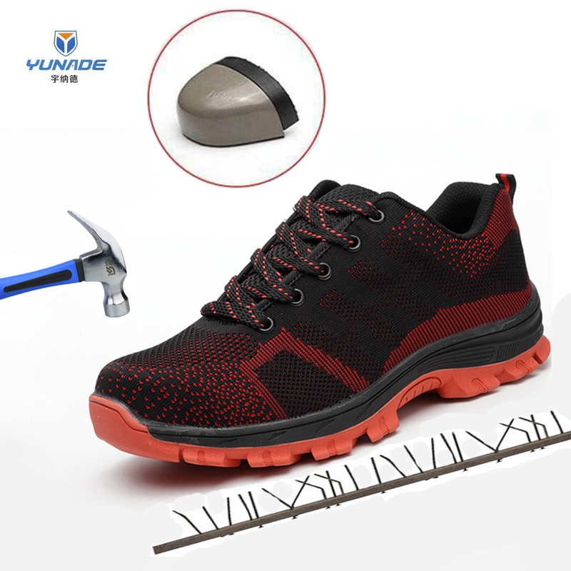 European Standard Steel Toe Work Safety Shoes Construction Steel Toe Shoes Safety Non-slip Men Boots Puncture-Proof Work Shoes