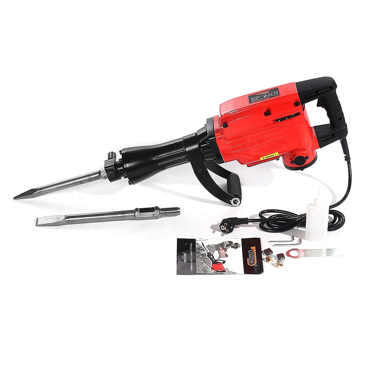 2200W 220V Jackhammer Commercial Grade Demolition Pickaxe Jack Hammer Concrete Drill Demolition Electric Pick