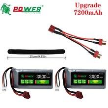 Upgrade 7200mAh 7.4V 3600mAh RC Lipo Battery Charger Sets For Wltoys 12428 12423 RC Car feiyue 03 Q39 parts 2s 7.4V Car Battery