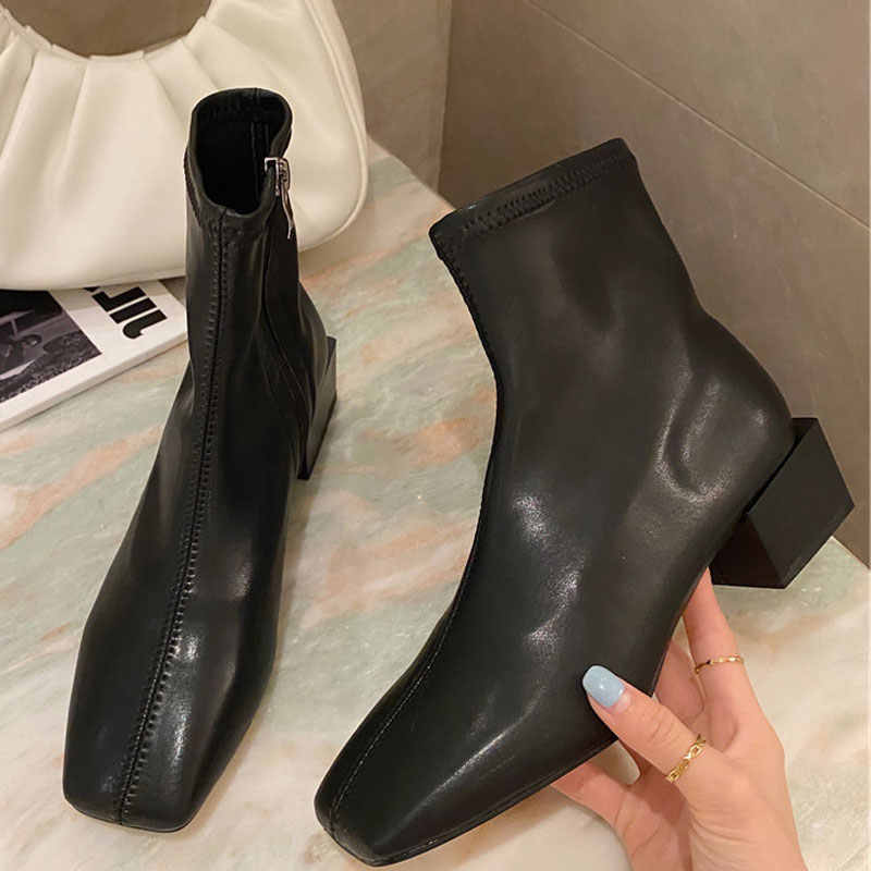 New Soft Leather Women Black White
