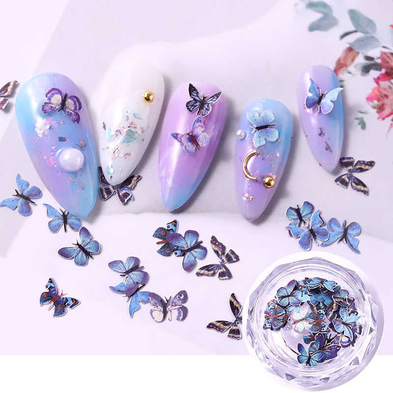 3D Butterfly Nail Art Decorations Vivid Butterfly Nails Sticker Stereoscopic Design Colorful Charms DIY Nail DecalS Accessories