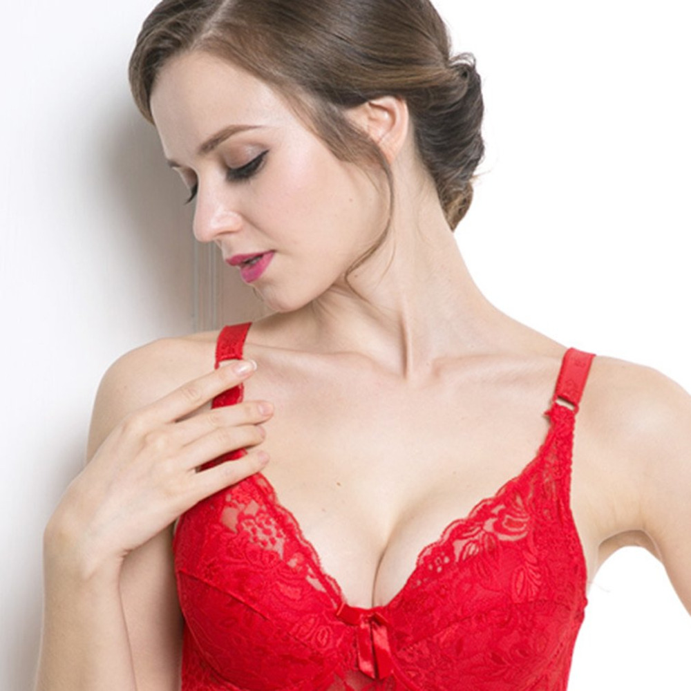 Bras For Women Adjusted-straps Underwire Bra Sexy Women Underwear Lace Bralette Lingerie Top Large Size 75B-100D Ultra-thin Bra