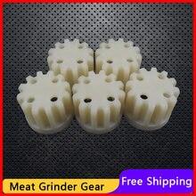 5 uds engranajes de repuesto piezas para picadora de carne manga de plástico tornillo MDY-19DV para Axion cocina electrodomésticos reemplazos partes