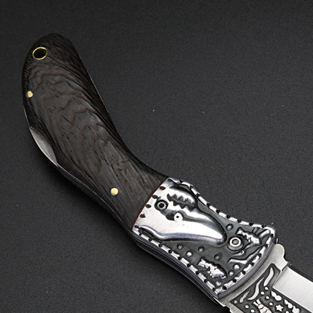 Outdoor Straight Folding Knife Survival Hunting Camping High Knife Knife Hardness Multifunctional Knife