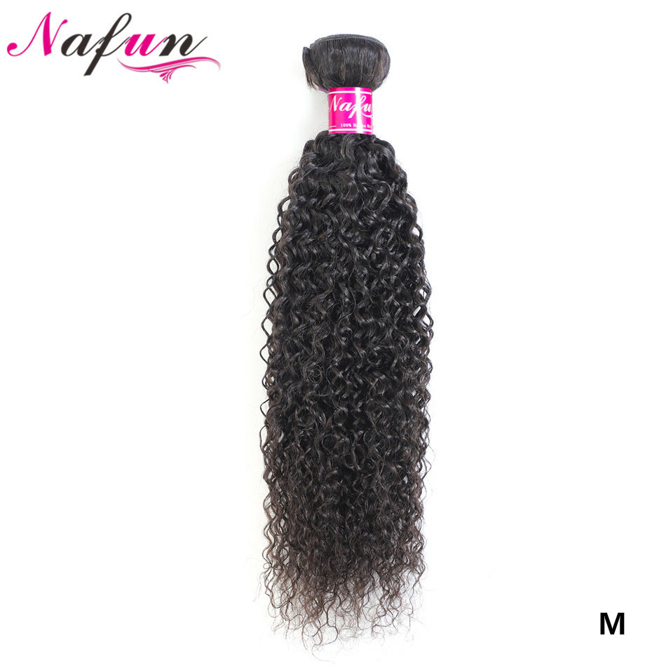 NAFUN Hair Malaysian Hair Kinky Curly Bundles Non-Remy Human Hair Bundles Natural Color Human Hair Extension Free Shipping