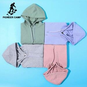 Image 1 - Pioneer Camp Plain Hooides Männer marke kleidung mit kapuze Sweatshirts Männlichen Baumwolle Solide Hoody Männer Kleidung der AWY908048