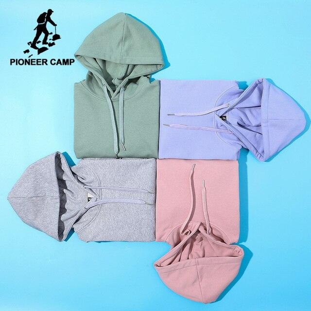 Pioneer Camp Plain Hooides Männer marke kleidung mit kapuze Sweatshirts Männlichen Baumwolle Solide Hoody Männer Kleidung der AWY908048