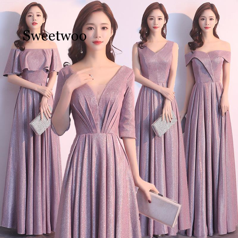 2020 New Sexy Slim Reflective Dress Chinese Style Dress Chinese Bridesmaid Dress Chinese Dress Qipao Size S-XXL Pink Gray