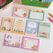 Yisuremia New 50 Sheets Kawaii Cute Memo Pads Paper To Do List Planner Decorative Notepads Paperlaria School Office Stationery