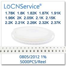 LoCNService 0805 1% 5000 sztuk 1.78K 1.8K 1.82K 1.87K 1.91K 1.96K 2K 2.05K 2.1K 2.15K 2.2K 2.21K 2.26K 2.32K 2.37K 2012 rezystor
