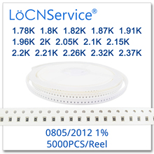 LoCNService 0805 1% 5000PCS 1.78K 1.8K 1.82K 1.87K 1.91K 1.96K 2K 2.05K 2.1K 2.15K 2.2K 2.21K 2.26K 2.32K 2.37K 2012 הנגד
