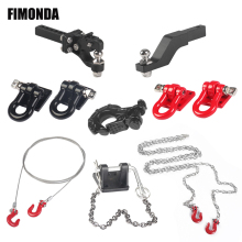 1/10 Scale Metal Tow Hook Trailer Rope for RC Crawler Car Axial SCX10 Traxxas TRX4 Tamiya CC01