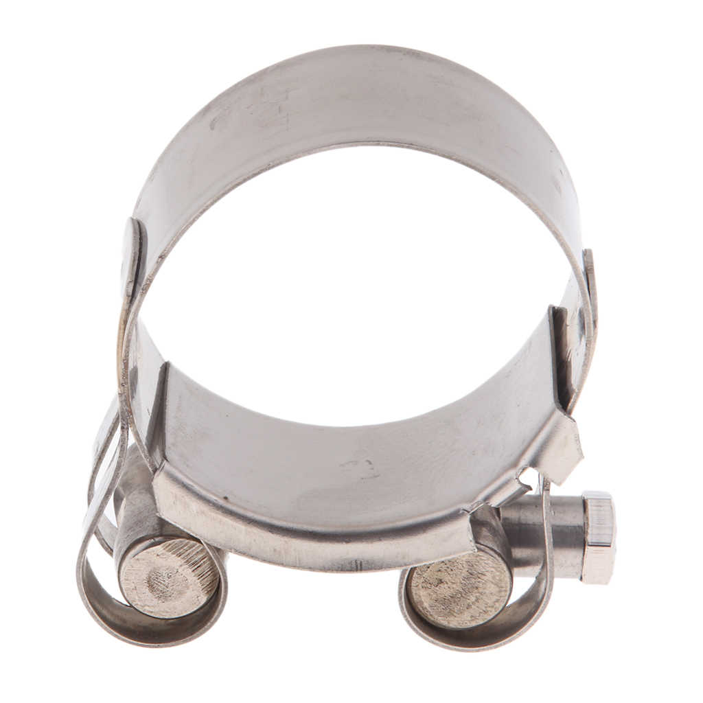 Perfeclan Universal Motorcycle 48-51mm//52-55mm Exhaust Pipe Clamp Calipers Stainless Steel T-Bolt Clamp Stainless Steel