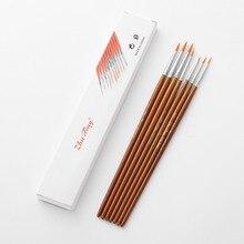 7 шт. кисточки для нанесения краски набор кистей для художника кисть для краски нейлоновая кисть для волос остроконечная круглая ручка деталь кисть для краски художественная картина маслом