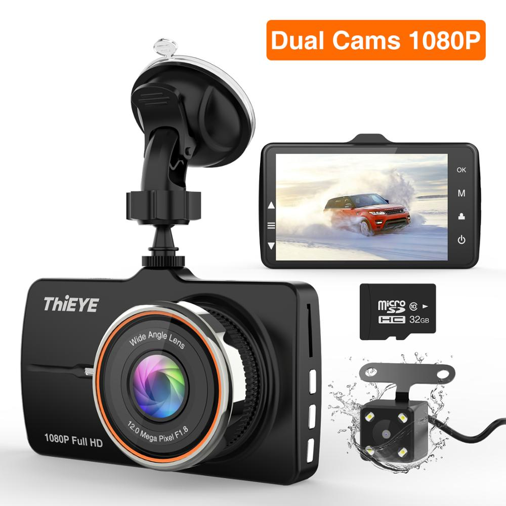 ThiEYE Carbox 5R Traço Cam Real Full HD 1080P Câmera Frontal com 720P HD IP67 Traseira Resistente À Água câmera de Lente Dupla Gravador de Carro
