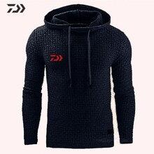 Daiwa Рыбацкая рубашка с капюшоном с длинным рукавом Толстовка Мужская дышащая однотонная одежда для рыбалки походная спортивная куртка для рыбалки на открытом воздухе
