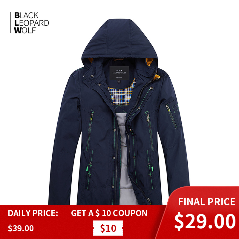 Blackleopardwolf 2019 New Arrival Winter Jacket Men Top Balck Color Thin Cotton Down Jacket Men Brand Mens Fashion MC-17108