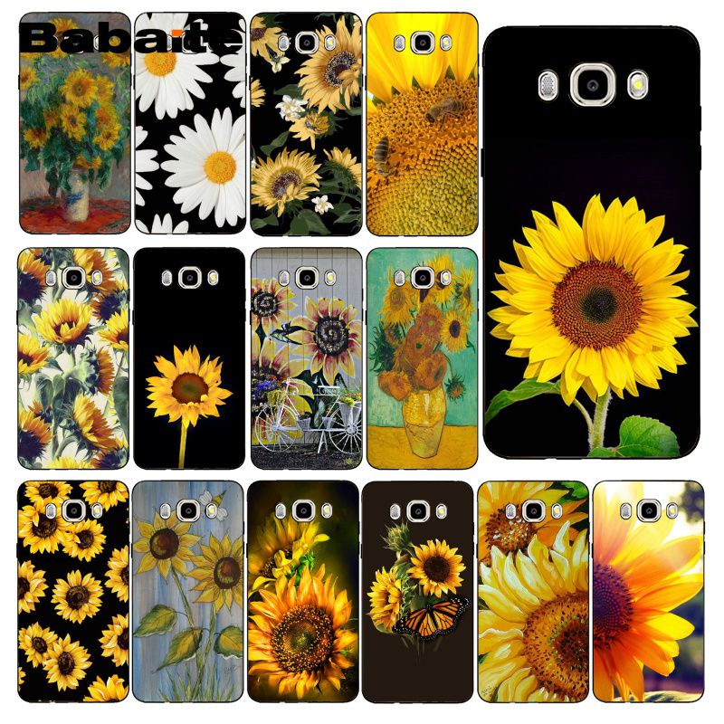 Babaite Cute Summer Daisy Sunflower Floral Flower PhoneCase Cover For <font><b>Samsung</b></font> Galaxy J7 J6 J8 J4 J4Plus J7 <font><b>DUO</b></font> J7NEO J2 J5 Prime image