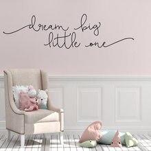 Quente adesivo de parede drem grande auto adesivo frase vinil papel de parede para crianças quarto frase decoração adesivos decalques