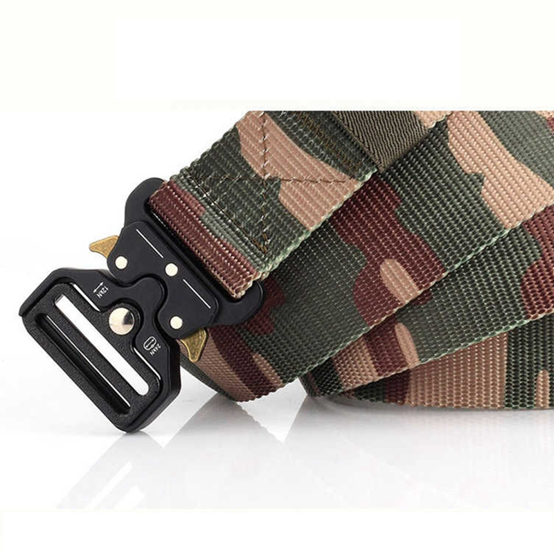 Tactical Camouflage Belts Men Adjustable Heavy Duty Military Tactical Waist Belts Metal Buckle Nylon Belt Hunting Accessories image