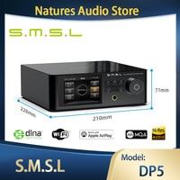 SMSL DP5 MQA decodifica completa HIFI network music player ES9038Pro streaming media DSD256 IIS USB DLNA Airplay lettore Bluetooth