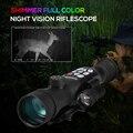 Telescopio infrarrojo de visión nocturna a todo Color caza visión nocturna conjunto de Visión Digital Ir Monocular alcance para caza nocturna